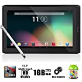 """Dragon Touch® R10 10.1"""" Google Android 4.1 Dual Core Tablet MID PC, Rockchip RK3066 Dual Core Cortex A9 CPU up to 1.6GHz, 1Gb RAM, 8Gb HDD, Multi-Touch Screen, Front Camera + Rear Camera, Google Play Pre-Installed, HDMI 1080P Output, Skype Video Calling, Netflix, Flash Supported [By TabletExpress], Best Gadgets"""