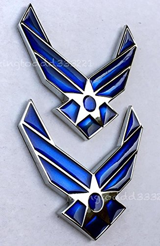 2x Motorcycle U.S.A Air Force Airman USAF Gas Tank Emblems For BMW Kawasaki Honda Suzuki Harley Davidson All Years