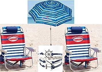 Great Tommy Bahama Beach 3 Pc Set Plus Bonus: 2 Backpack Beach Chairs And  Matching Umbrella