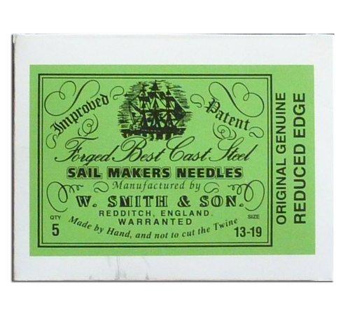 (Wm. Smith & Son 5-pk of #13-19 Sailmakers' Needles)
