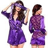 eDealMax DAMA de seda de Raso Interior de las Mujeres ropa de Noche del camisón de