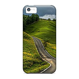 High-end Cases Covers Protector For Iphone 5c(winding Road Hill)
