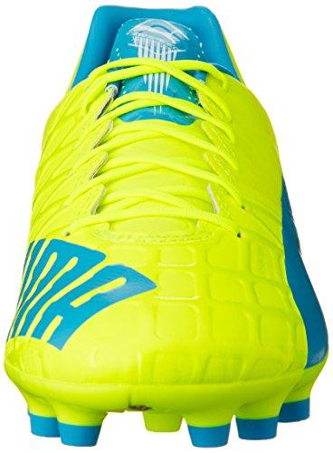 Puma Evospeed 1.4 Ag - Zapatillas de fútbol Hombre Amarillo - Gelb (safety yellow-atomic blue-white 04)