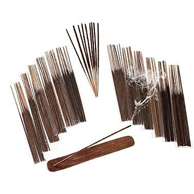 INCENSE STICKS & BURNER GIFT SET - 120 Sticks, 12 Scent Assortment - Nag Champa, Sandalwood, Patchouli, Sage, Frankincense & More