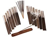 SENSARI HAND-DIPPED INCENSE & BURNER GIFT SET - 120 Stick Variety, 12 Scent Assortment - Nag Champa, Sandalwood, Patchouli, Sage, Frankincense & More