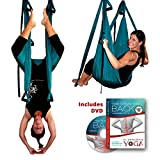 Inversion Sling - Original GravoTonics Yoga Swing (Teal) + Yoga Back DVD