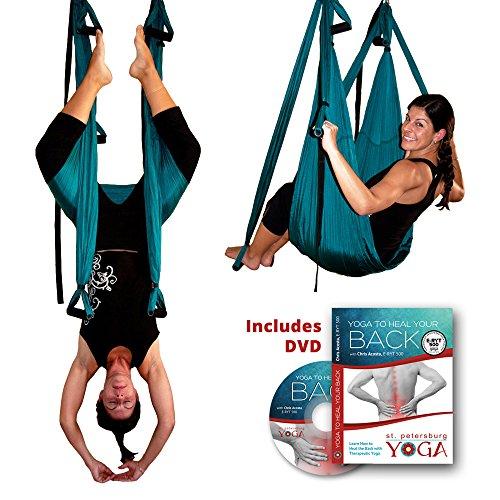 Inversion Sling - Original GravoTonics Yoga Swing (Teal) + Yoga Back DVD by Gravotonics