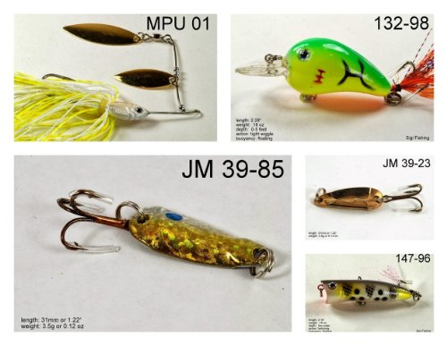 Akuna [NY] Pros' pick recommendation collection of lures for Bass, Panfish, Trout, Pike and Walleye fishing in New York(Pan Fish 5-A) (Best Pike Fishing In New York)