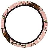 Mossy Oak Pink Camo Print Car Truck SUV Neoprene Steering Wheel Cover
