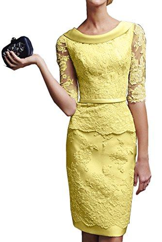 amarillo Vestido Estuche Topkleider mujer para AUxIgR