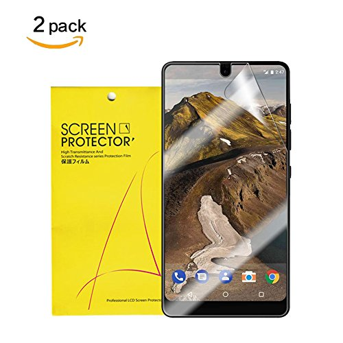 For Essential PH-1 Screen Protector, Wubian [2 Pack] HD Clear Invisible TPU Screen Film[Full Coverage] Shatter Proof Scratch Resistant [Case Friendly][Ultra Thin] [Bubble Free] for Essential PH-1