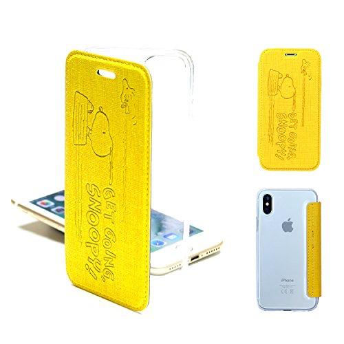 のみエンドテーブルコンテンポラリーiPhone Xs ケース クリア シリコン スヌーピー iphone x ケース 手帳型 キャラクター 耐衝撃 クリア iphone xs ケース TPU (スヌーピー YELLOW) [並行輸入品]