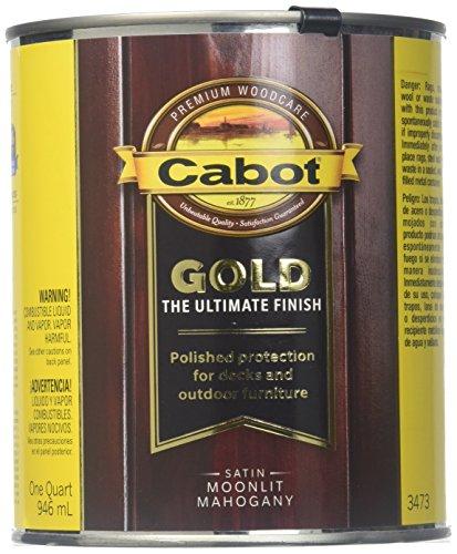 Valspar 1 Quart Satin (CABOT/VALSPAR 3473-05 Moon Mahogany Wood Finish)