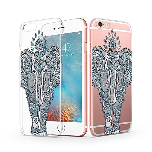 iPhone 6s Case, iPhone 6 Clear Case, MOSNOVO Henna Totem Mint Elephant Design Slim Clear Case for Apple iPhone 6 4.7 Inch