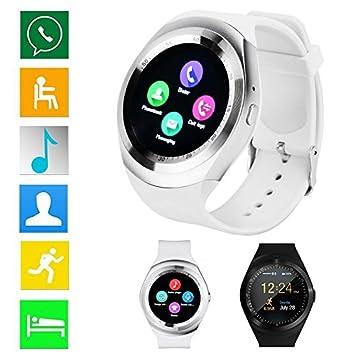 yhlve - Reloj Inteligente con Bluetooth, Resistente al Agua, Compatible con Tarjeta SIM gsm