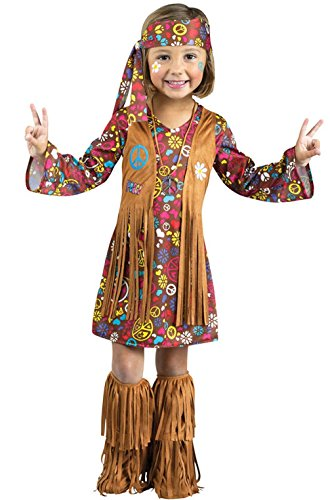 Mememall Fashion Peace and Love Hippie Toddler Costume (2)