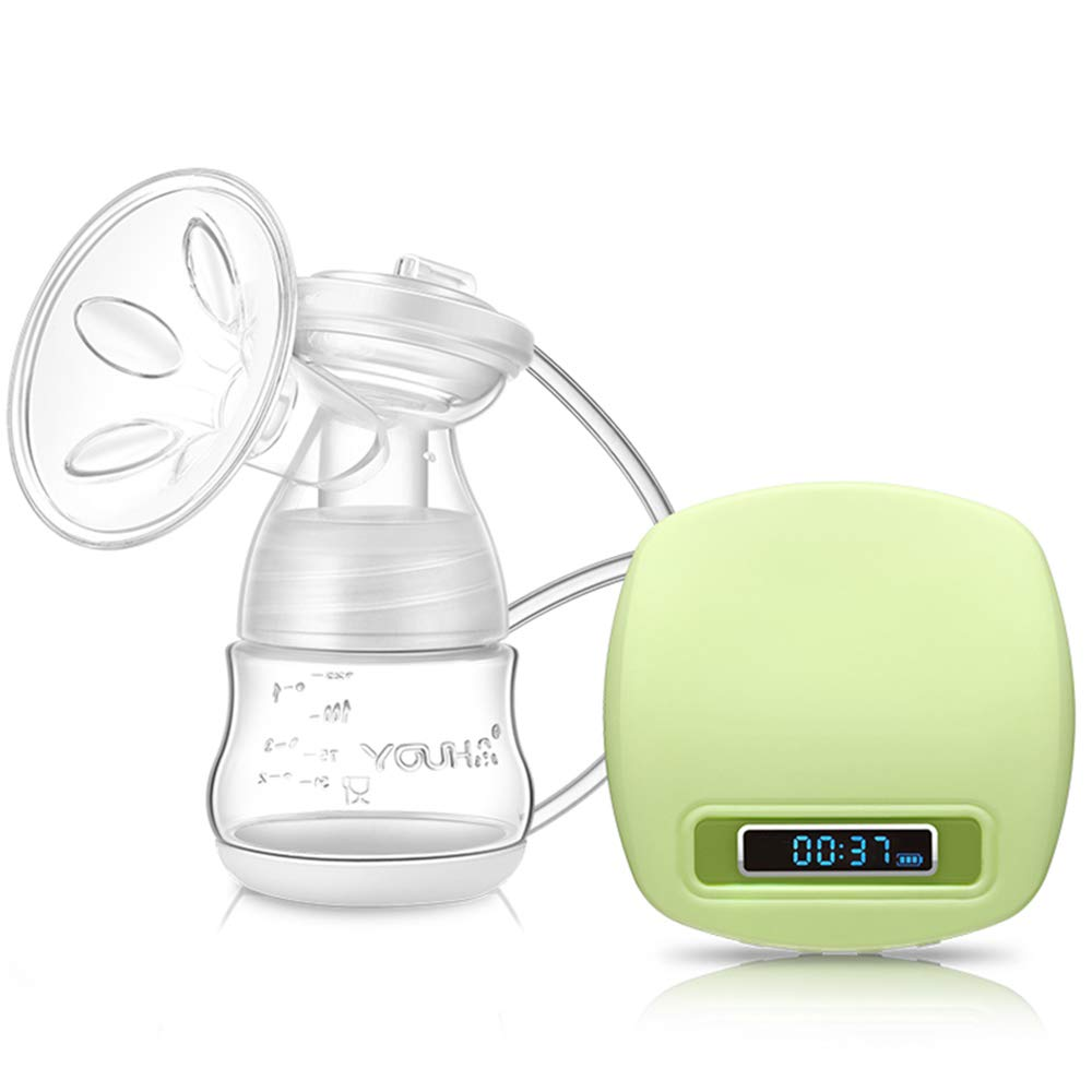 Portable Electric Breast Pump,Rechargeable Hospital Grade Breastfeeding Pump with 2200mAh Battery,Adjustable Massage & Suction Level by YOUHA
