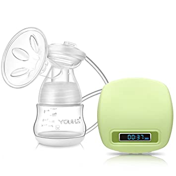 Pink Electric Breast Pump Portable Battery Baby Milk Extractor Rechargeable Single Breastfeeding Pump with 3 Modes Massage /& Suction Level and Backflow Protector for Travel