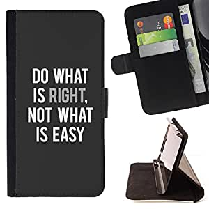 Jordan Colourful Shop - Do What Is Right Inspiring Text Quote For Samsung Galaxy Note 3 III - Leather Case Absorci???¡¯???€????€??????&acir