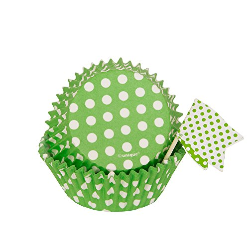 Lime Green Polka Dot Cupcake Kit for 24