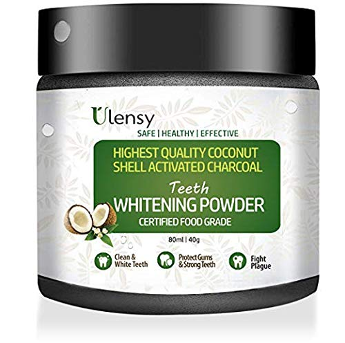 ([2018 Upgraded] Teeth Whitening Powder, All Natural Coconut Activated Charcoal Teeth Powder for Stronger Healthy Teeth | Perfect Teeth Whitener with Safe & Pure Formula)