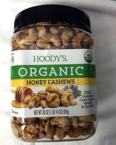 Hoody's Organic Honey & Sea Salt Cashews 30oz (1 lb 14 Oz) (1 Pack)