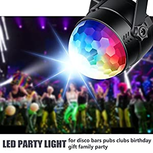 Neewer Mini LED Stage Light Sound Activated Party Light with Remote Control, RGB 7 Colors Strobe Light Disco Ball DJ Light for Christmas Xmas Festival