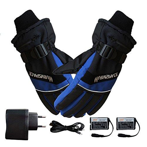 Battery Powered Rechargeable Heated Gloves For Men Women Waterproof...