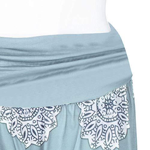 Donna Da Pantaloni Signore Largo Sciolto Yoga Cielo Pantaloni Blu Harem Ghette Pieno Stampare Pants Le Lunghezza 5BqwfE