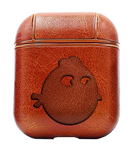 Bird Headlight Blue Bird (Vintage Brown) Air Pods Protective Leather Case Cover - a New Class of Luxury to Your AirPods - Premium PU Leather and Handmade exquisitely by Master Craftsmen ()
