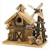 Barnyard Birdhouse Wood Decorative Barn Yard Bird House