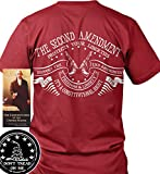 Sons of Libery The Second Amendment Protects Your Liberties. Red/2XL T-Shirt.