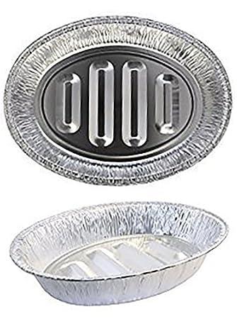 edaydeal desechables Turquía Horno sartenes aluminio | de profundidad de uso pesado, Extra grande, forma ovalada para carne, pollo, asados, varillas, ...