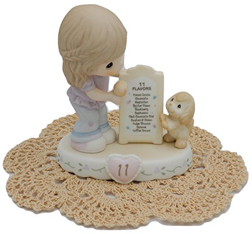"Precious Moments ""Growing in Grace"" Girl/Female Collectible Figurines with Westbraid Doily (Age 11, Brunette (Precious Moments Collectables)"