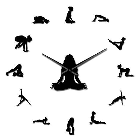 Amazon.com: GUABOHHY - Reloj de pared gigante con poses de ...