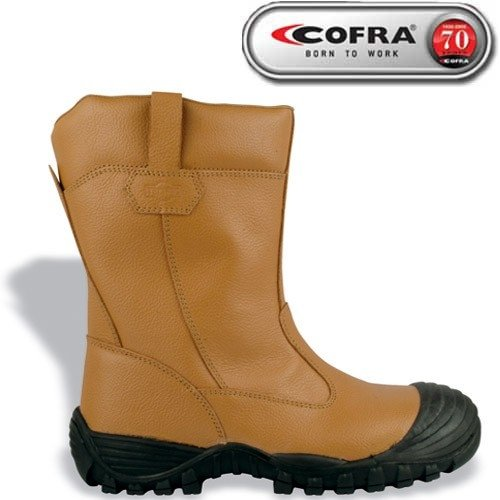 Cofra Tower S3 UK SRC – zapatos de seguridad (talla 45) camello