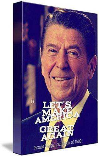 amazon com wall art print entitled let s make america great again