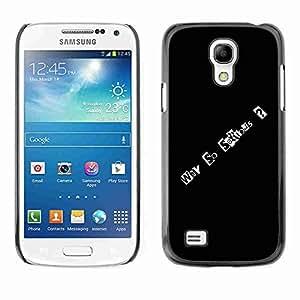 Planetar® ( Why So Serious ) Fundas Cover Cubre Hard Case Cover Samsung Galaxy S4 MINI / i9190 / i9192