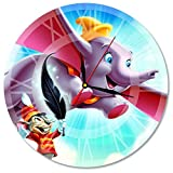 Dumbo Disney Decal Waterproof Color Modern Sticker Wall Clock - Decorate your home with Colored Art - Best gift for man, friend, girlfriend, family- Win a prize for a feedback