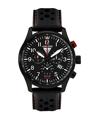 Junkers 6680-4 Mens Hugo Black Chronograph Watch