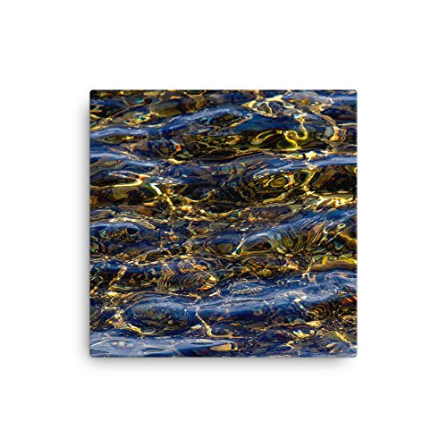 Cammo Camo Cool Water Ripples Nature AndieJ Studio Canvas