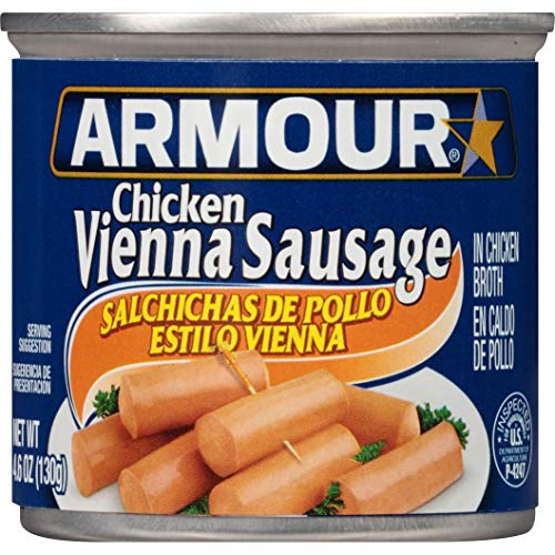 Armour Vienna Sausage, Chicken, 4.6 Ounce (Pack of 24)