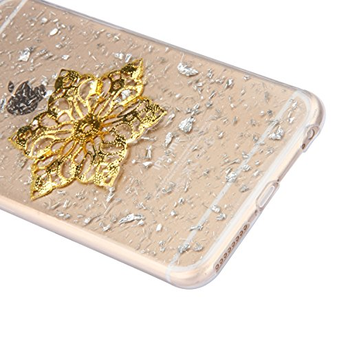 Bling dargento glitter lucido Cover per iphone 6 Plus/6S Plus, Ukayfe Apple iphone 6 Plus/6S Plus 5.5 Pollici Custodia fit ultra sottile Silicone Morbido Flessibile TPU Gel Shell Custodia Case Cover