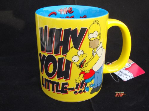 2012 Ceramic Mug - The Simpsons Homer and Bart Collectible Ceramic Coffee Mug [2012 Official Licensed Merchandise] Very Nice!