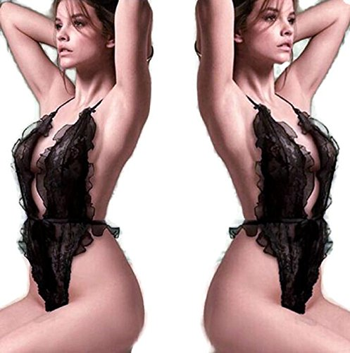 NEW Sexy Lingerie Hot Women Black Dress Transparent Erotic Lenceria Sex Costumes (Freesize, Black) (Hot Costumes For Couples)