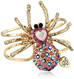 "Betsey Johnson ""Enchanted Forest"" Spider Hinged Bangle Bracelet, 2.4"""