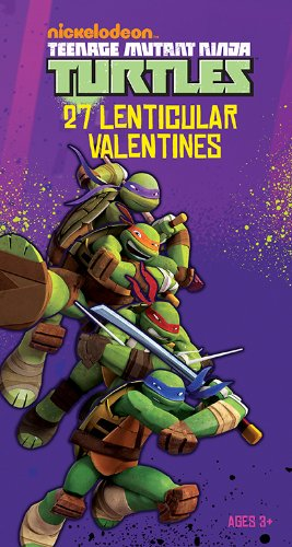 Paper Magic Deluxe Lenticular 3D Valentine Teenage Mutant Ninja Turtles Exchange Cards (27 Count) (Ninja Turtle Valentine compare prices)