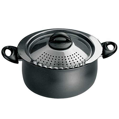Bialetti 7265 Trends Collection 5 Quart Pasta Pot, Charcoal (Pot With Built In Strainer compare prices)