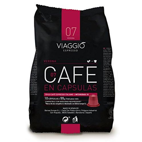VIAGGIO ESPRESSO - 120 Cápsulas de Café Compatibles con Máquinas Nespresso - VERONA: Amazon.es: Alimentación y bebidas