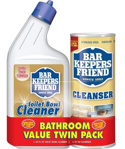 Bar Keeper's Friend Toilet Bowl Cleaner 24 oz & Powdered Cleanser 21 oz ()